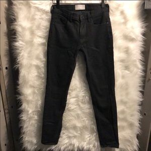 Everlane Black Mid Rise Skinny Jeans Size 26R